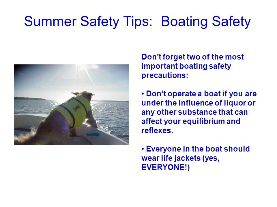 Summer Safety Tips: Boating Safety