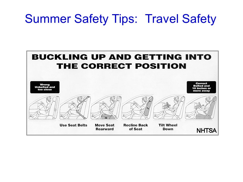 Summer Safety Tips: Travel Safety