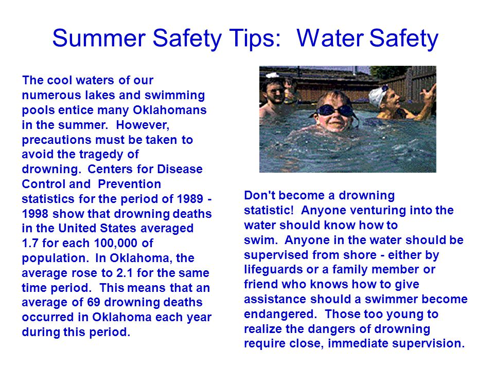 Summer Safety Tips: Water Safety