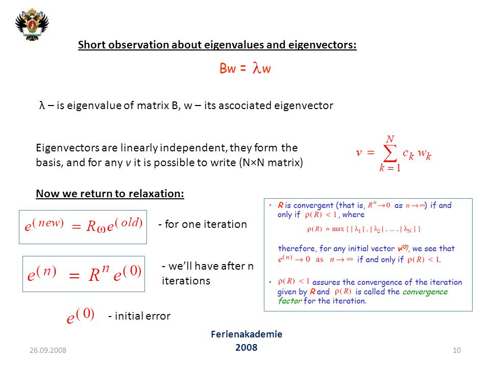 Short observation about eigenvalues and eigenvectors: