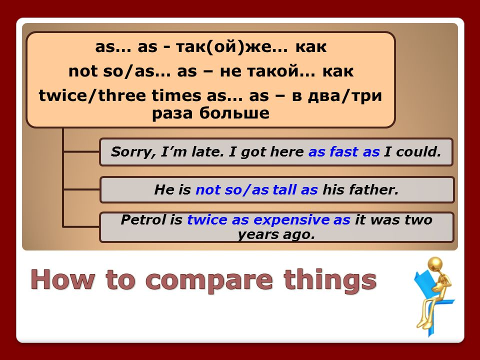 How to compare things as… as - так(ой)же… как