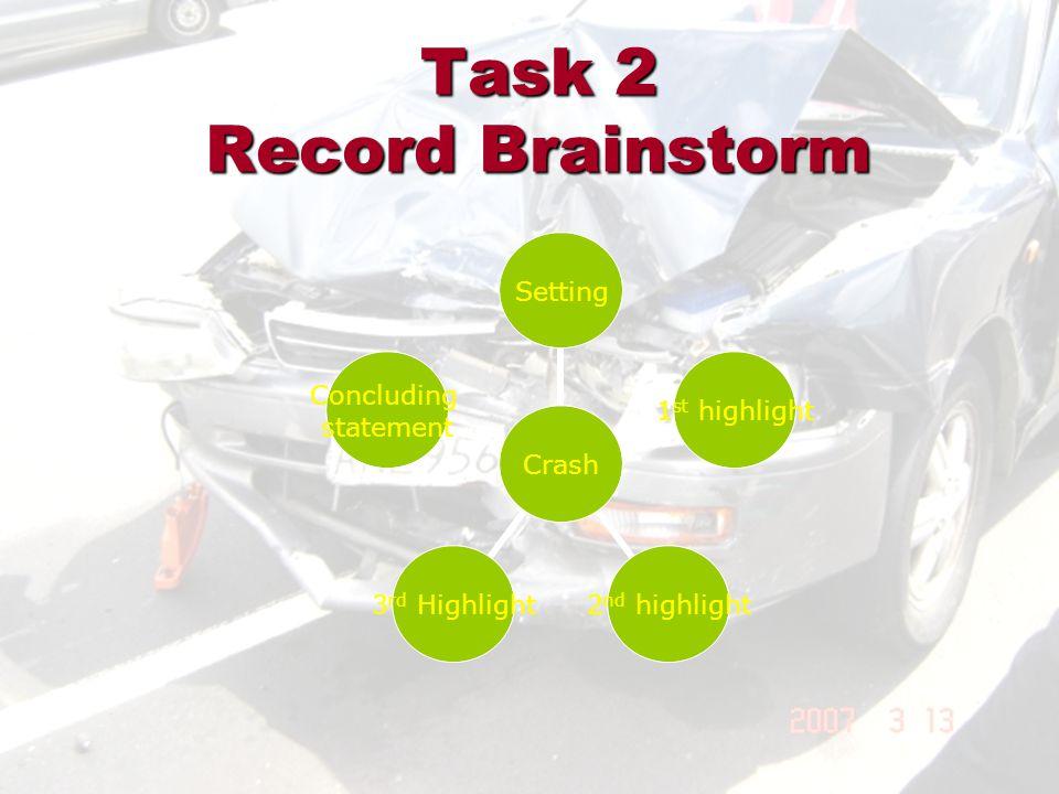 Task 2 Record Brainstorm