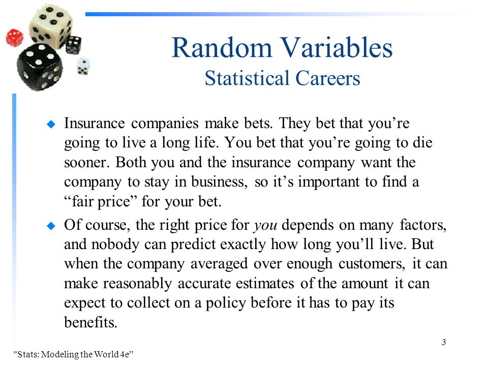 Random Variables Statistical Careers
