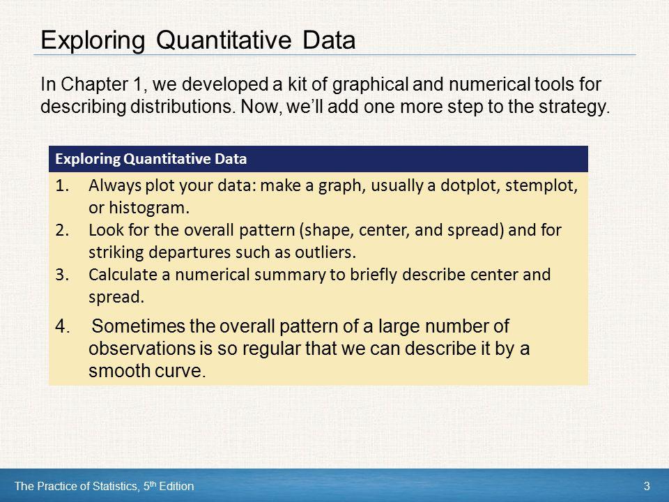 Exploring Quantitative Data