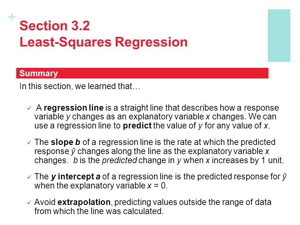 Section 3.2 Least-Squares Regression