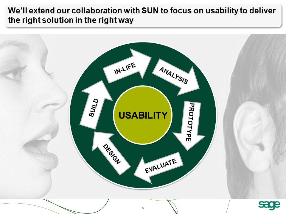 We'll extend our collaboration with SUN to focus on usability to deliver the right solution in the right way