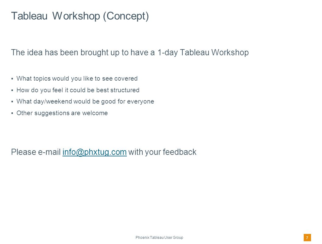 Tableau Web Site – Support Resources