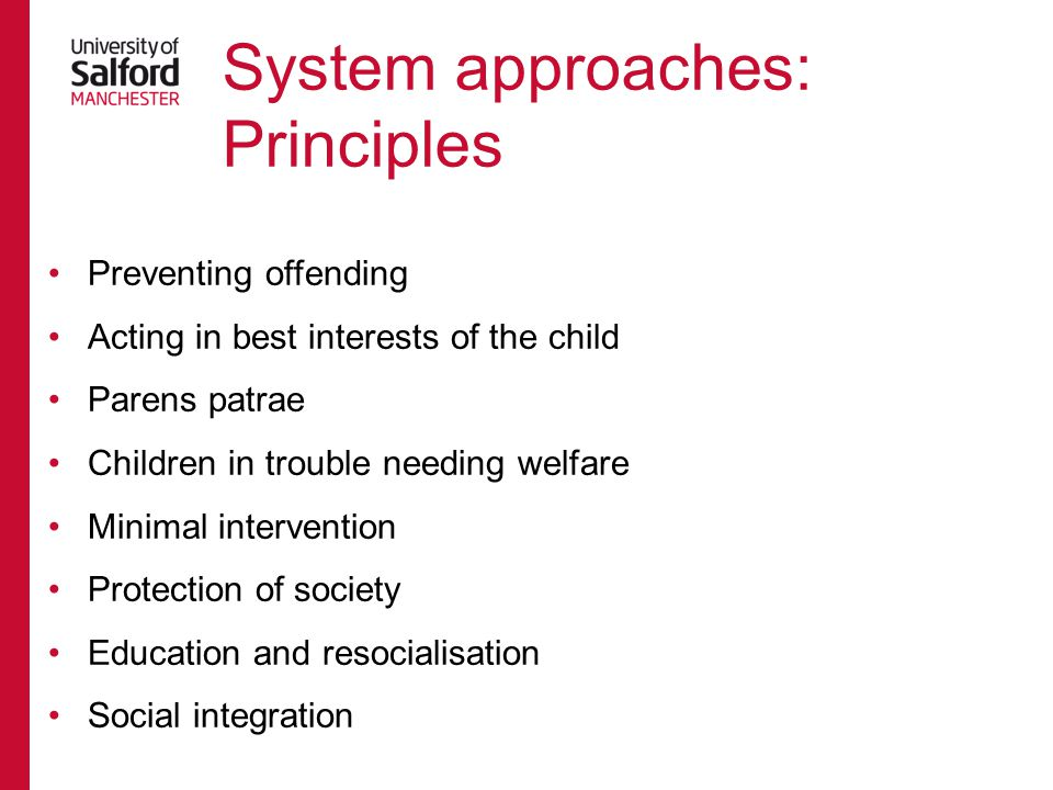 System approaches: Principles