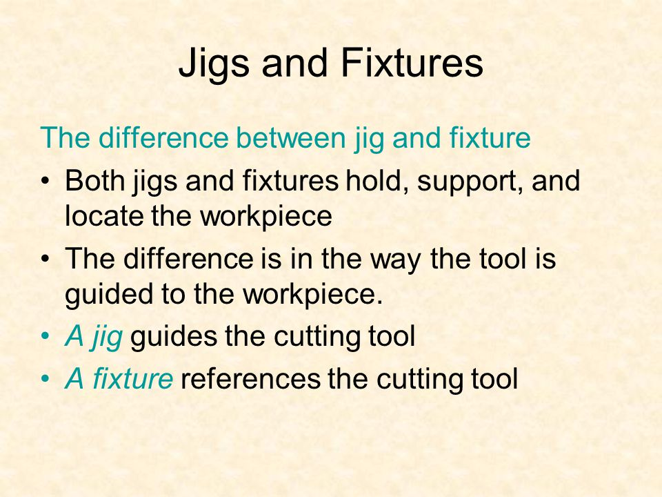 jigs and fixture essay