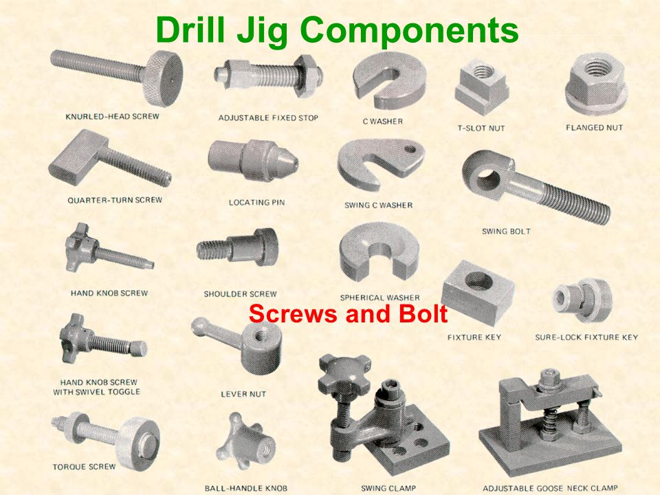 Drill Jig Components Screws and Bolt