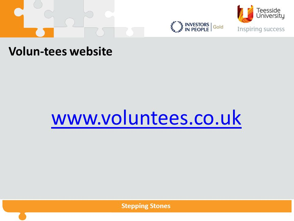 Volun-tees website