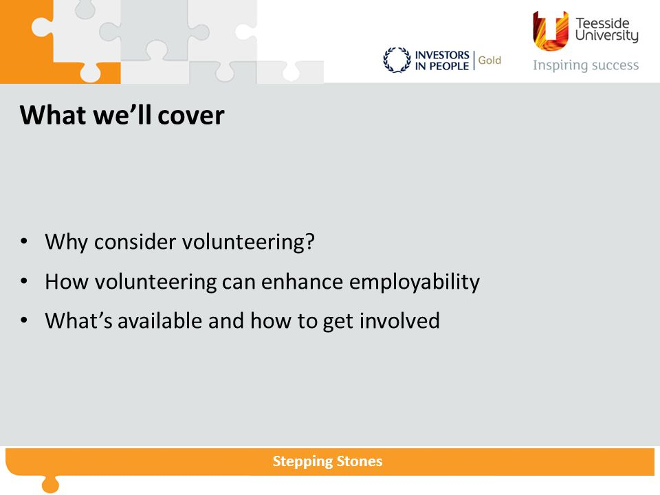 What we'll cover Why consider volunteering