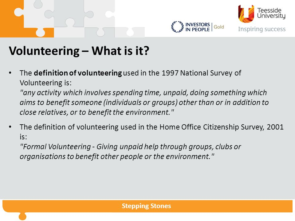 Volunteering – What is it