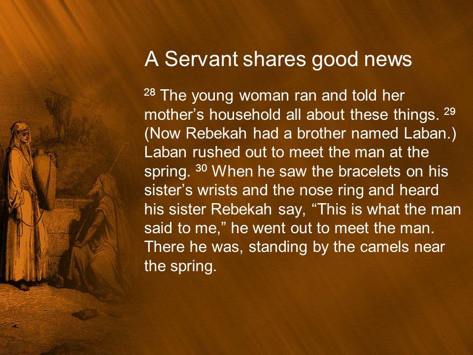 A Servant shares good news
