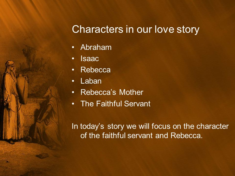 Characters in our love story