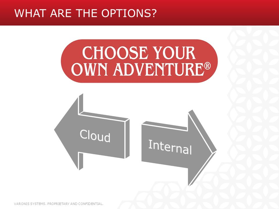 What are the options Cloud. Internal.