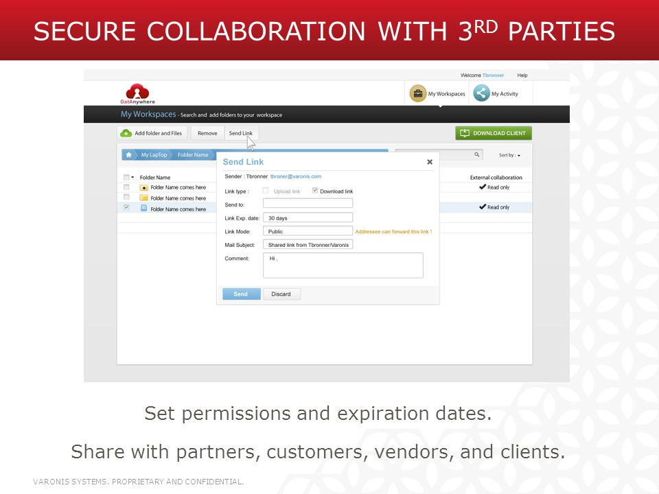 Secure Collaboration with 3rd Parties