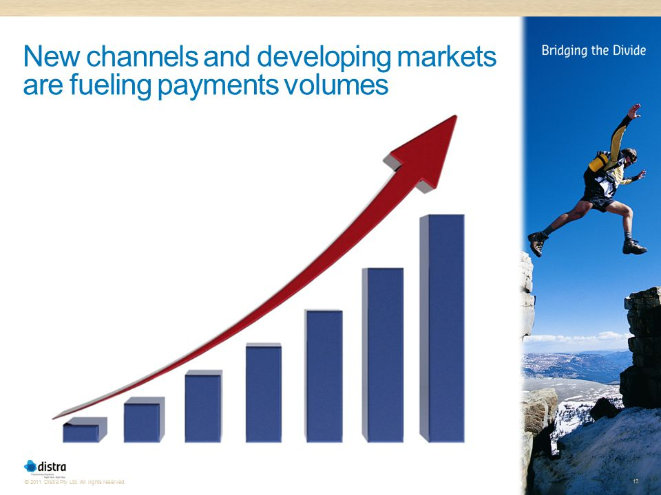New channels and developing markets are fueling payments volumes
