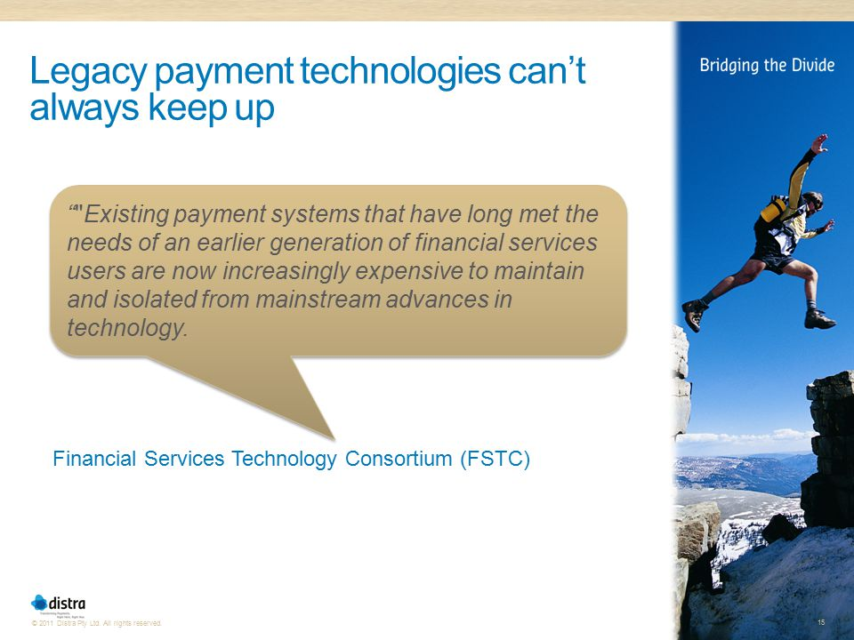 Legacy payment technologies can't always keep up