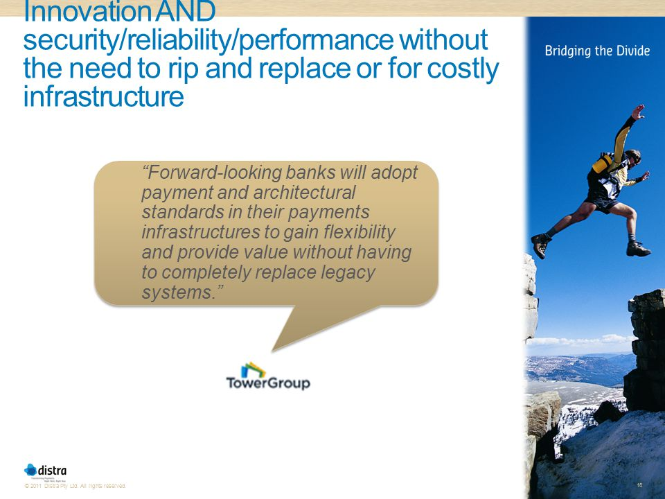 Innovation AND security/reliability/performance without the need to rip and replace or for costly infrastructure