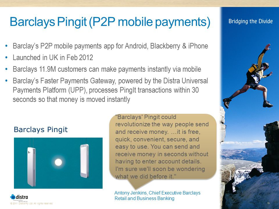 Barclays Pingit (P2P mobile payments)
