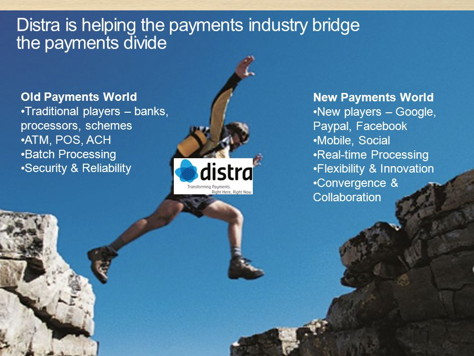 Distra is helping the payments industry bridge the payments divide