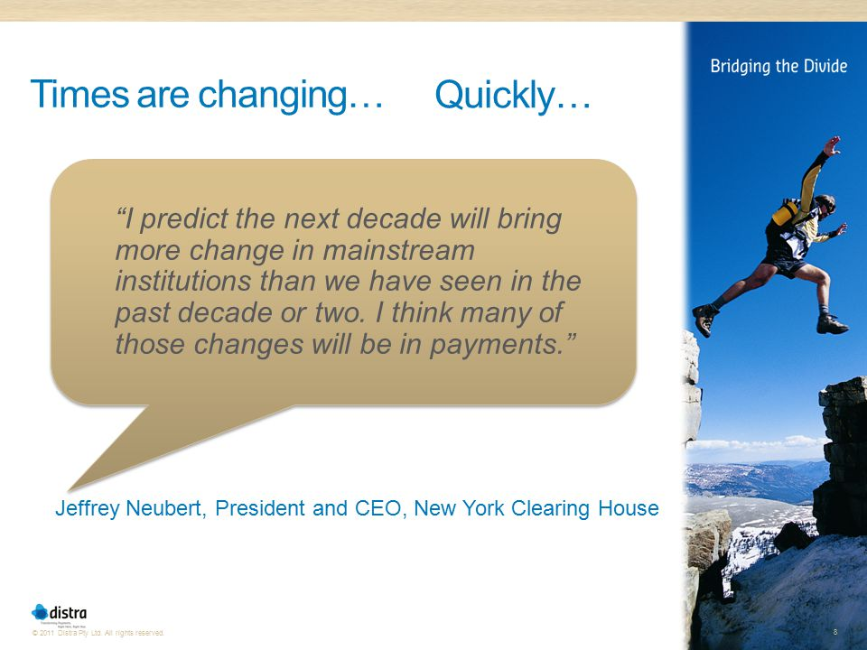 Jeffrey Neubert, President and CEO, New York Clearing House