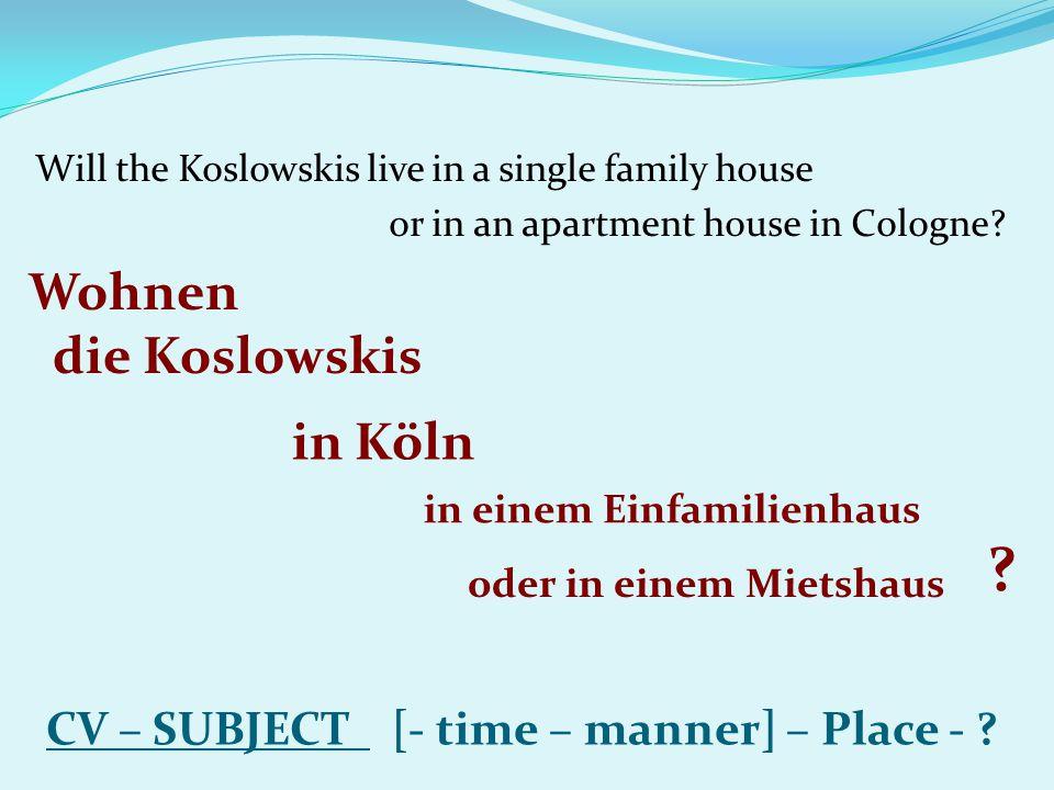 Wohnen die Koslowskis in Köln