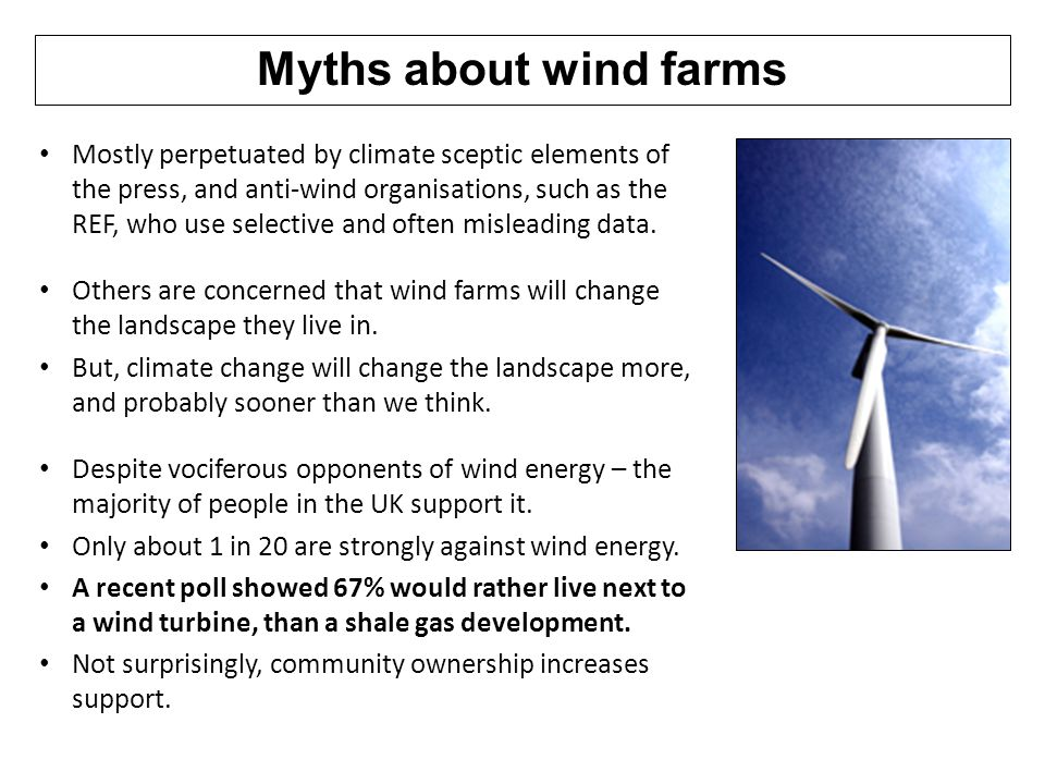 Myths about wind farms