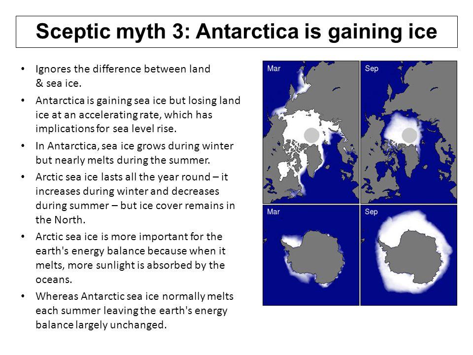 Sceptic myth 3: Antarctica is gaining ice