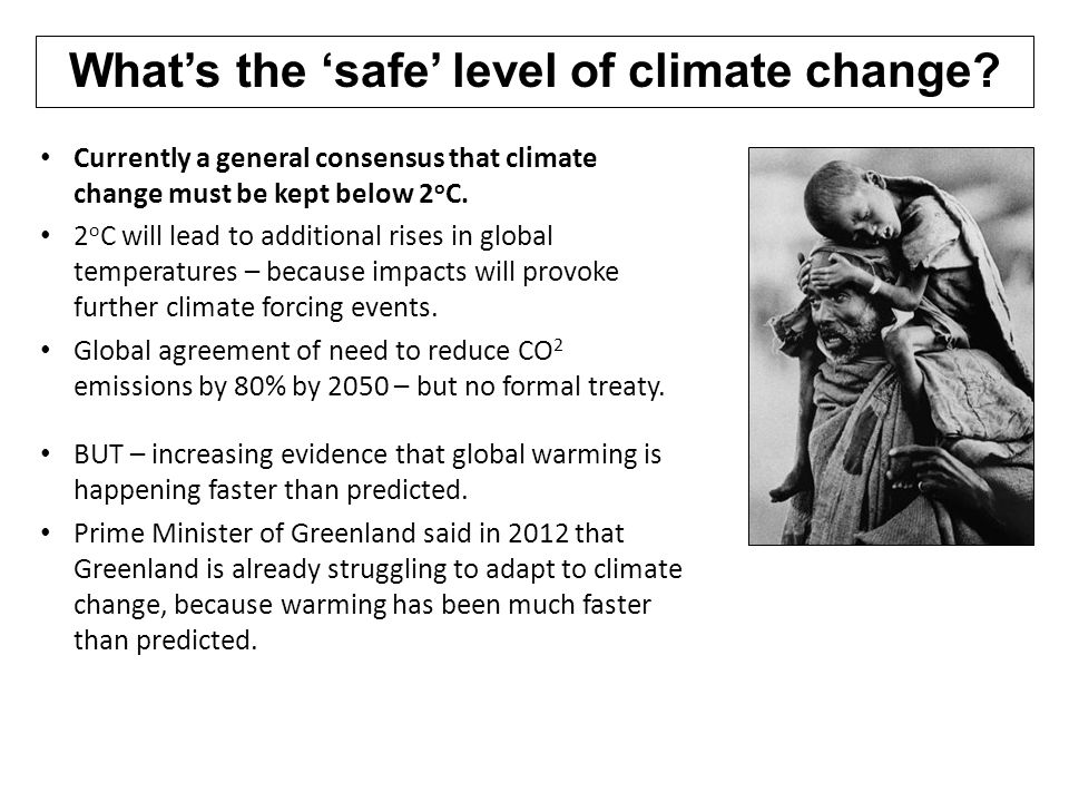 What's the 'safe' level of climate change