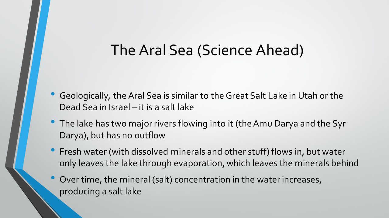 The Aral Sea (Science Ahead)