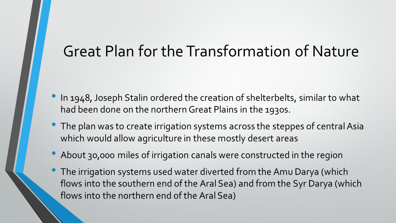 Great Plan for the Transformation of Nature