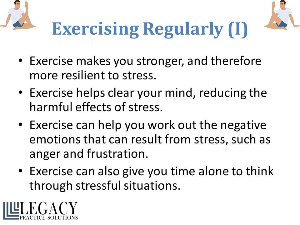 Exercising Regularly (I)