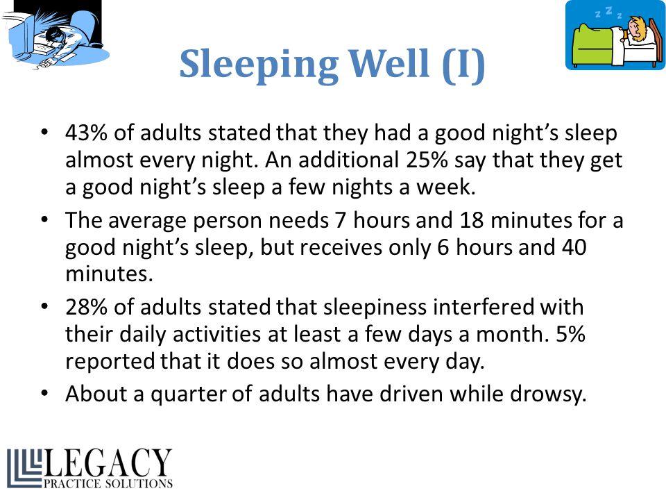 Sleeping Well (I)