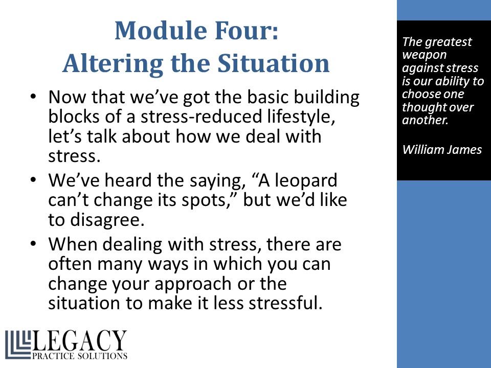 Module Four: Altering the Situation