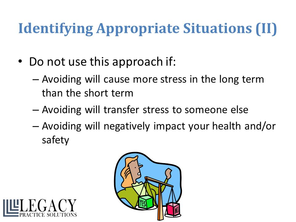 Identifying Appropriate Situations (II)