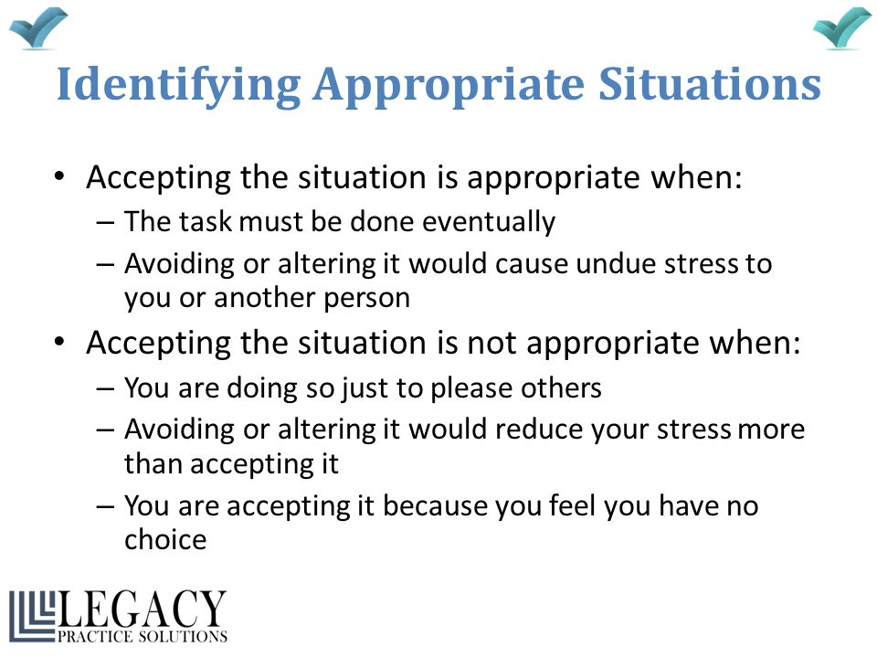 Identifying Appropriate Situations