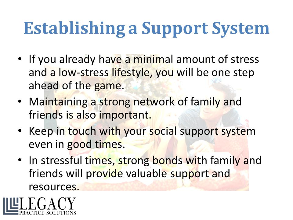 Establishing a Support System