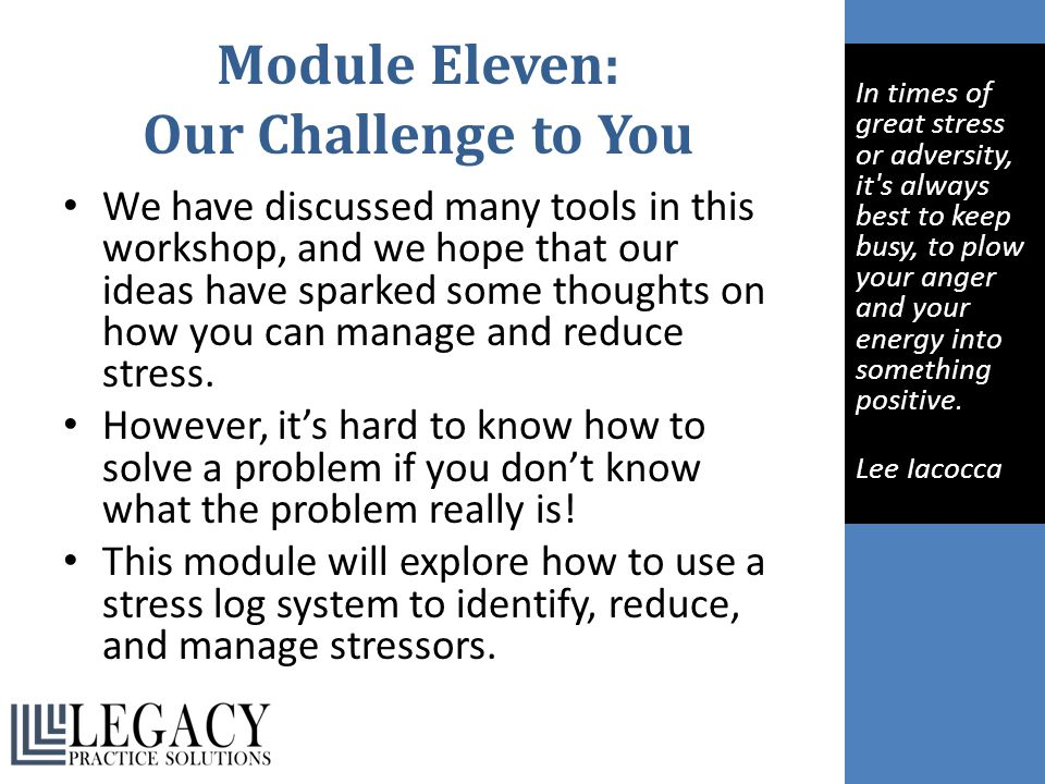 Module Eleven: Our Challenge to You