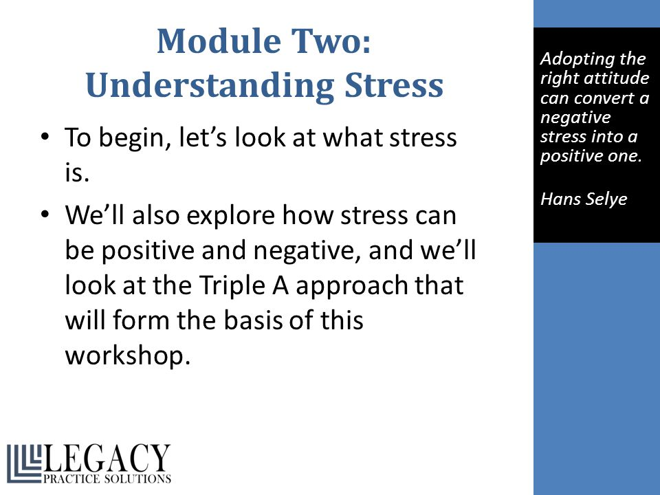 Module Two: Understanding Stress
