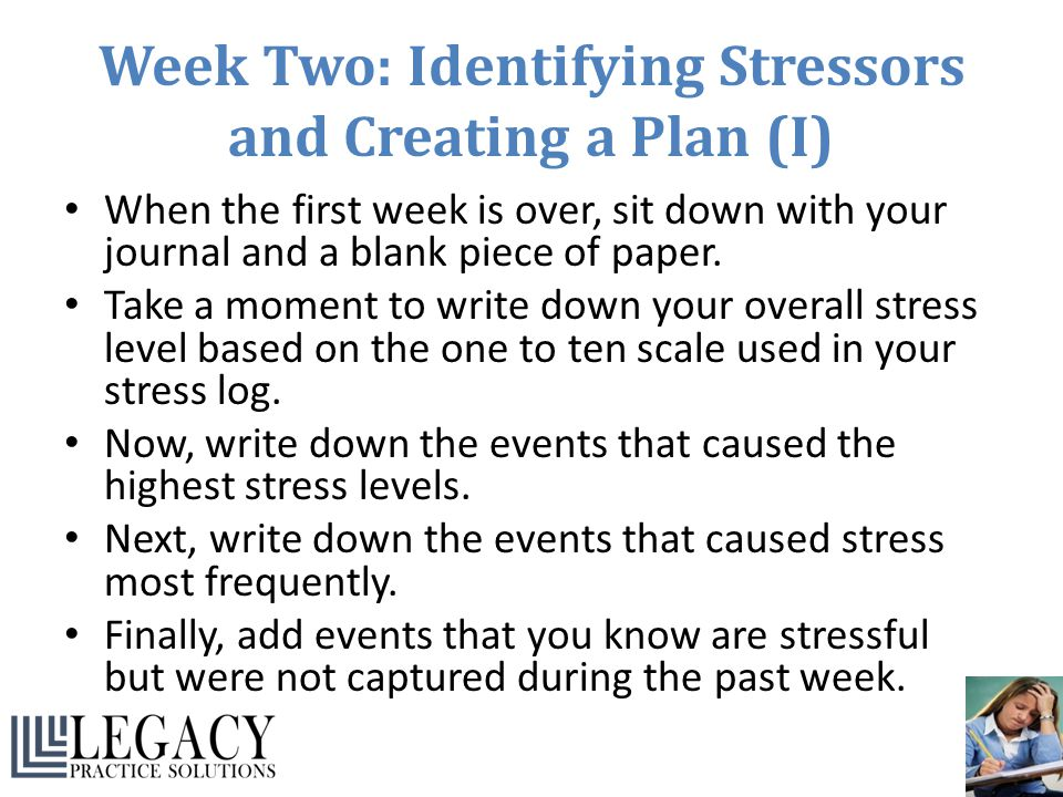 Week Two: Identifying Stressors and Creating a Plan (I)