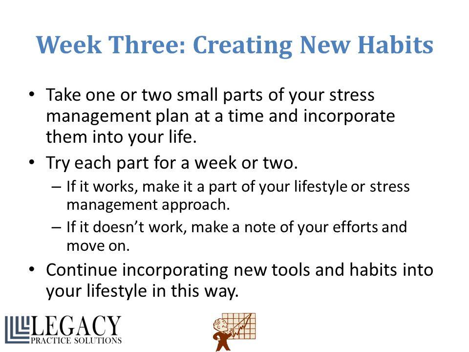 Week Three: Creating New Habits
