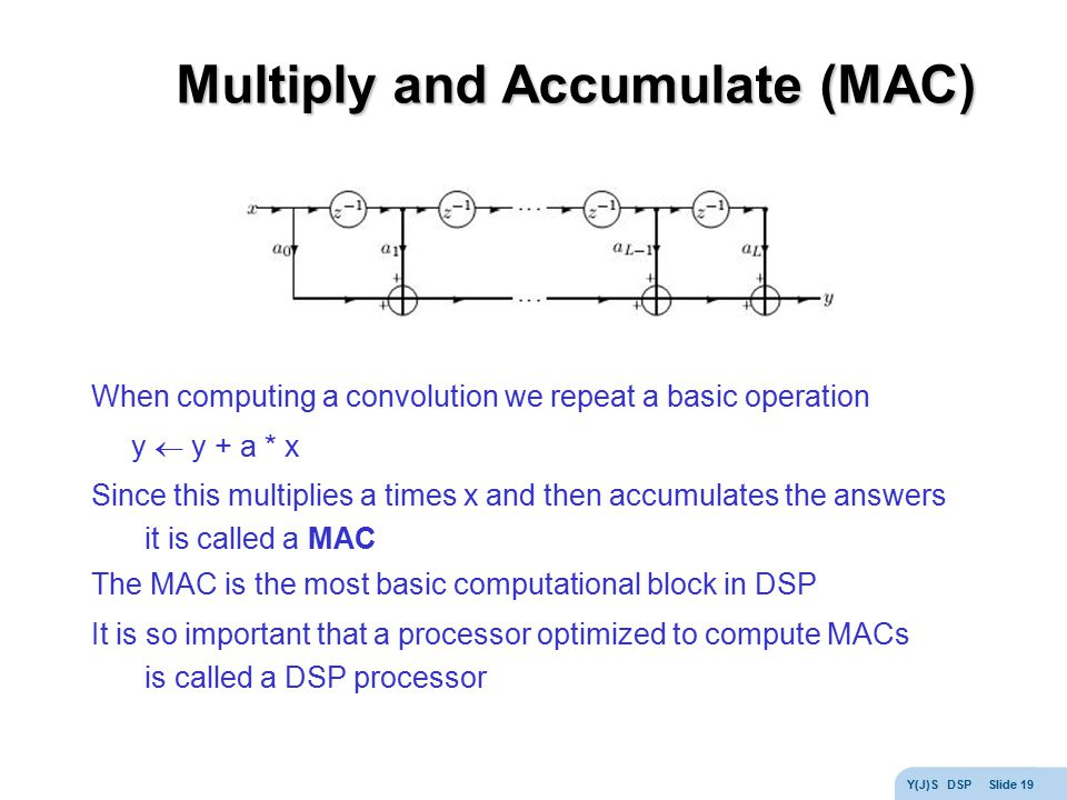 Multiply and Accumulate (MAC)
