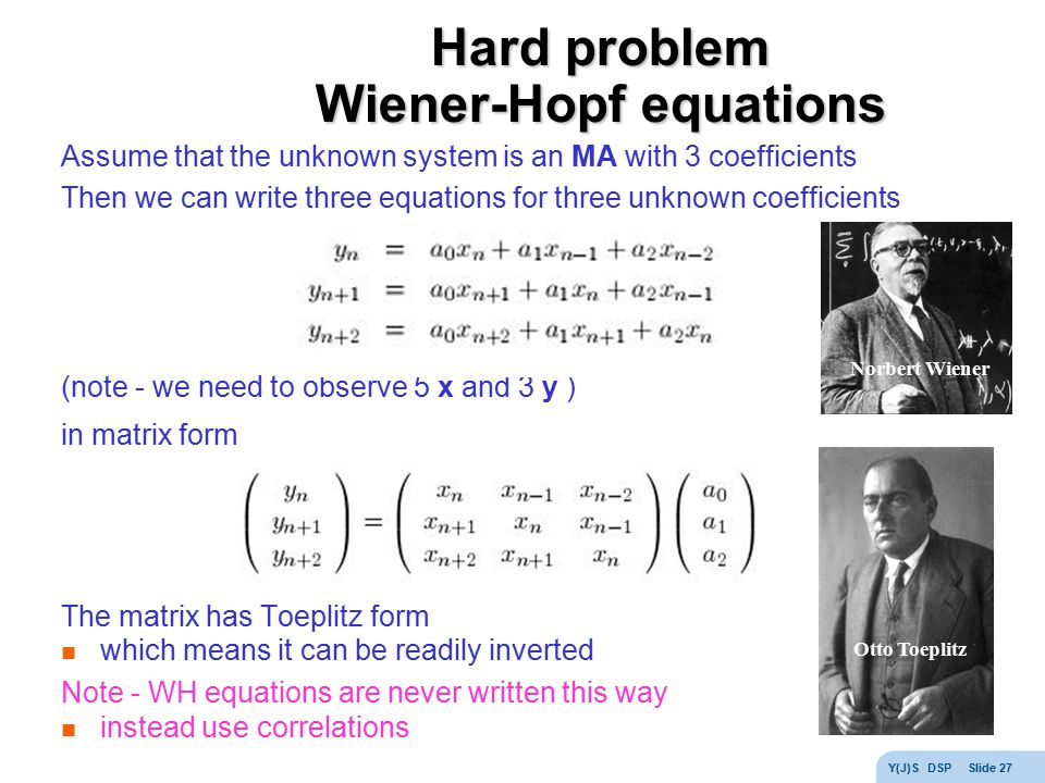 Hard problem Wiener-Hopf equations