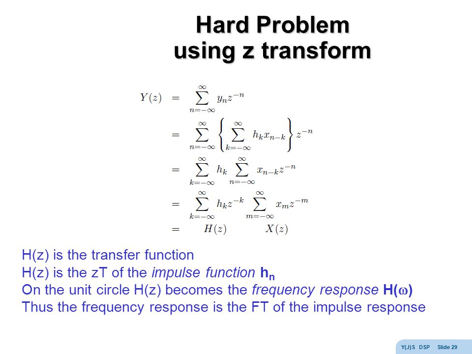 Hard Problem using z transform