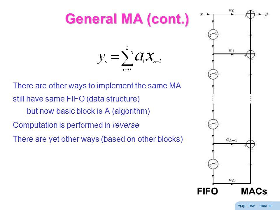 General MA (cont.) FIFO MACs