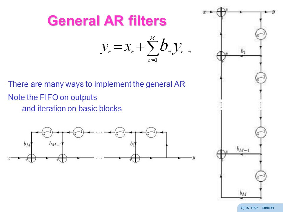 General AR filters There are many ways to implement the general AR