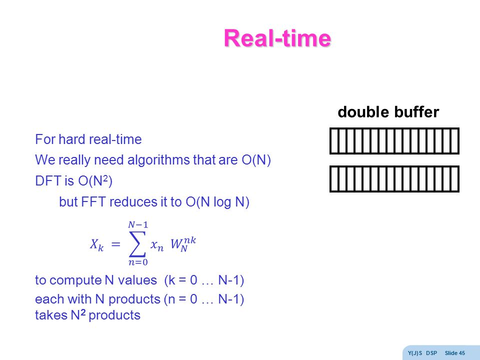 Real-time double buffer For hard real-time