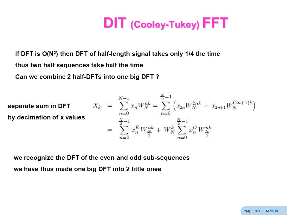 DIT (Cooley-Tukey) FFT